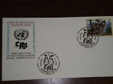 First Day Cover-Wolf-U.N. Postal Admin.-Endangered Species-1993