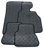 Perfect Fit 3mm Thick Rubber Car Mats for Hyundai Getz 02> - Black Ribb Trim
