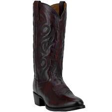 Dan Post Mens Milwaukee Mignon Corona Western Cowboy Boots R Toe Black Cherry