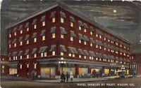 C98/ Macon Georgia Ga Postcard c1915 Hotel Dinkler By Night Cafe People 1914