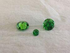 13 mm Russian EMERALD GREEN Sim Diamond BRILLIANT (8 CT) (1 pc)
