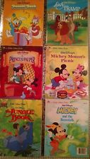 Little Golden Books New and Vintage Lot of 6 Disney Mickey Donald Duck Jungle