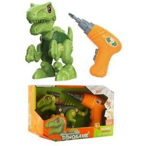 Dinosaur Raptor Take Apart Kids Learning Toy Drill Jurassic Park DIY 050