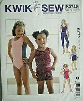 Kwik Sew Sewing Pattern 2725 (8-14) Girls Leggings Shorts Leotard