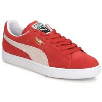 Puma Suede Classic Red White - rouge et blanc chaussures baskets pour femme