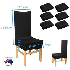 6pcs BLACK Dining Chair Covers Stretch Cover Protector Slipcover Washable SET AU