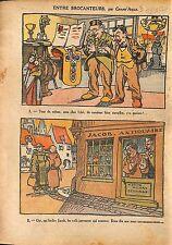 Caricature Antisémite Juifs Jewish Bien de l'Eglise Antiquaire 1920 ILLUSTRATION