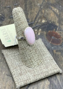 Barse Calla Ring- Pink Opal- Sterling Silver-7-NWT