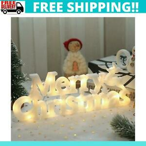 Merry Christmas Hanging Lights Decor Ornaments Holiday Home Decoration