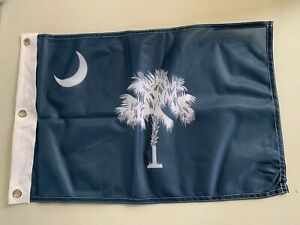 """12x18 12""""x18"""" State of South Carolina SC Sovereignty Boat Flag 3 grommets 5"""
