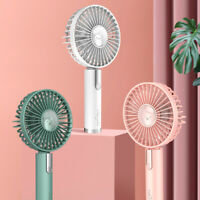 USB Rechargeable Mini Handheld Desk Fan Portable Cooling Cooler Air Conditioner