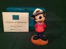 """WDCC Disney Cruise Lines - Mickey Mouse """"Welcome Aboard!"""" New in Box"""