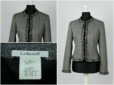 Womens L.K. Bennett Blazer Jacket Sport Wool Grey Size UK10