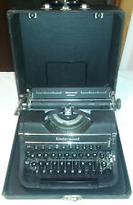 Vtg Underwood Universal Portable Manual Typewriter 1940s w/Case