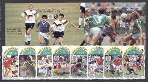 Fußball WM 1994, Soccer - Gambia - 1769-1776, Bl.211-212 ** MNH