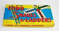 Ludo and Snakes & Ladders Spears Deluxe Vintage Board Games Family Dice