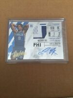 2015-16 Absolute Frequent Flyers Jahlil Okafor RPA RC Rookie Patch AUTO 7/25