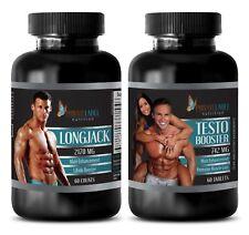 Muira Puama - LONGJACK & TESTOSTERONE 742MG COMBO - testosterone booster dietary