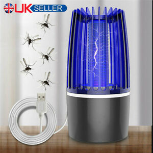 Electric Insect Mosquito Killer Fly Pest Bug Zapper Catcher Trap LED USB Lamp UK