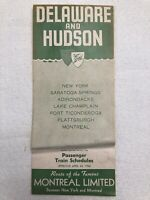 Delaware and Hudson Passenger Train Schedules April 24, 1966 Timetable