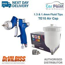 DeVilbiss Te10 GTI Pro Lite 1.3/1.4mm Gravity Spray Gun - Blue
