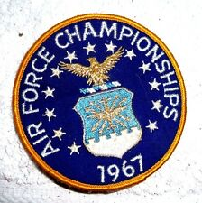 VINTAGE WOVEN PATCH AIR FORCE CHAMPIONSHIPS 1967