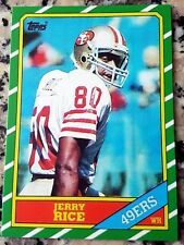 JERRY RICE 1986 Topps #1 Draft Pick Rookie Card RC San Francisco 49ers Reprint $