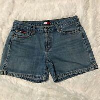 Tommy Hilfiger Womens Size 9 Blue Denim Jean Shorts EUC