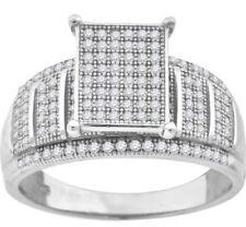 Anillos de joyería con gemas anillo de compromiso transparentes de plata de ley