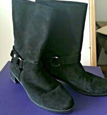 Stuart Weitzman Black Suede Pimlico Boots --  in Box Size 10.5