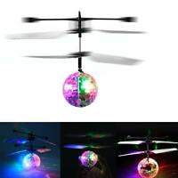 Electric RC Flying Ball Infrared Induction Aircraft LED Flash Light Kids Toy DH