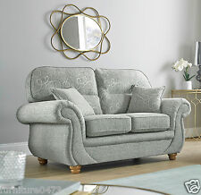 Grey High Quality Fabric Material 2 Seater Sofa Suite CLARENCE