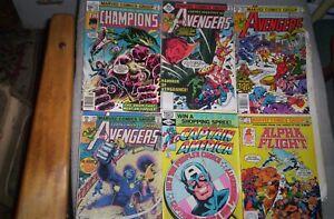 Lot of 9 John Byrne Marvel Comics 1977-1983 AVENGERS, FF,CHAMPIONS,ALPHA FLIGHT