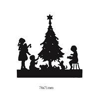 Stanzschablone Kinder Tannnbaum Dekoration Weihnachten Tagesbuch Karte Album DIY