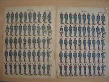 Lot de 3 images d'EPINAL  GENIE Armée Française Militaires Planche numéro 186