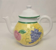 Caleca FRUTTA 5 Cup TEAPOT Coffee Pot with LID Hand Painted MADE in ITALY