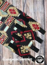 Horse Polo Leg Wraps For Horses Polos Set of 4 Native American Dark Base