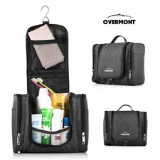 Overmont Hanging Travel Toiletry Bag/Household Bathroom Storage Pack Black Large