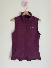Nike Womens Size Small Purple running zip pockets Gilet quilt