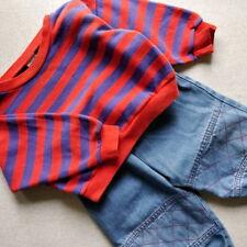 LIGHTNING / KANZ / Jeans + Sweat-Shirt / 18 M 86 cm / Hose Pullover Blau Rot