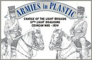 Armies in Plastic - Charge of the Light Brigade 13th Light Dragoons 54mm Grey