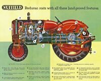 Vintage Nuffield Three Universal Tractor Poster Brochure Leaflet Print RARE (A3)