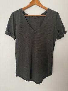 Lululemon Love Tee T-Shirt Top SS V-Neck Hyper Stripe Deep Camo Black Size 6