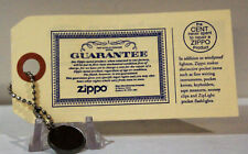 Zippo Guarantee Card The Cent Never Spent with Penny & Chain ZCVC& Museum