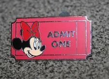 DISNEY PIN MINNIE MOUSE ADMISSION TICKET STUB RED ADMIT ONE