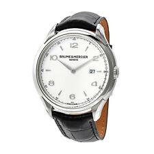 Baumer & Mercier Clifton Silver Dial Black Leather Strap Men's Watch M0A10419