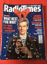 Radio Times 5 Dec 15 DOCTOR WHO Finale & Christmas Preview Royal Antiques R'show