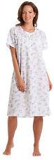 Ladies Polycotton Short Sleeve Floral Nightie Nightdress (1083) Pink Blue 10-32