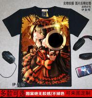 Anime Date a Live Kurumi Unisex Short Sleeve T-shirt Black Tee#YW