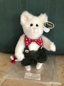 "Bearington Bears COLBY #173215 Plush 8"" Mouse 2014 Red Bow Tie, GR Pants NIB🎄🐭"